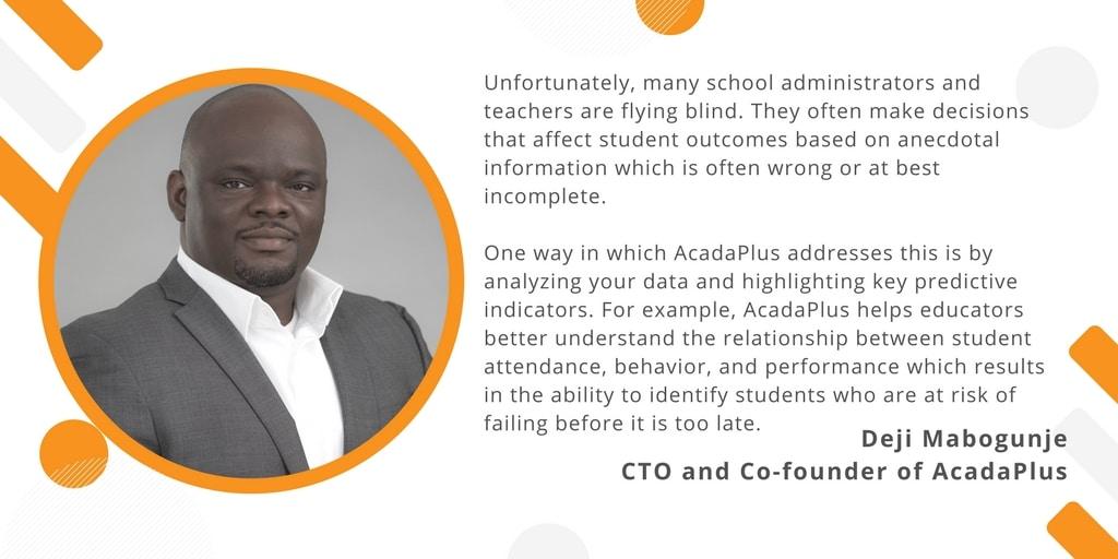 Deji Mabogunje CTO and Co-founder of AcadaPlus