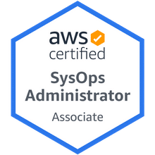 AWS Certified SysOps Administrator Associate 2020 Badge
