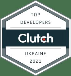 Romexsoft Top Development & IT Company in Ukraine for 2021 Clutch Badge